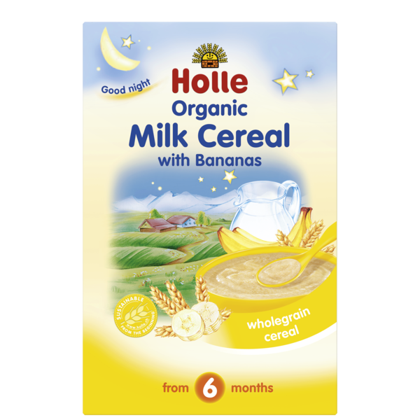 Organic milk cereal with bananas holle baby food organic milk cereal with bananas ccuart Images